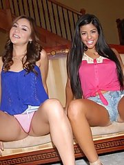 Frolic chick Rosie Flores has some lesbian fun with her friend