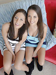 Seductive babes Gracie Glam  Lizz Tayler stripping together
