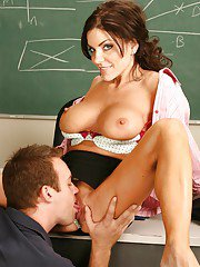 Ravishing teacher Cameron Love gets shagged by her studly student