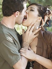 Busty asian slut with ample ass London Keyes gets anal banged outdoor