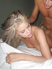 Jessa Rhodes gives a blowjob with ball licking and gets hammered hard