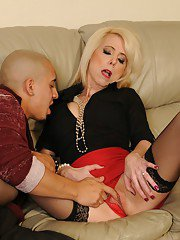 Lusty MILF Jodie Stacks gets her shaved cunt fingered and cocked up hardcore