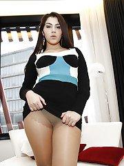 Lusty latina babe Valentina Nappi stripping and spreading her legs