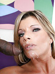 Krystal Summers fucks a big black cock and takes a huge load on her face