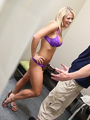 Holly Heart gets caught on a voyeur video fucking in the changing room
