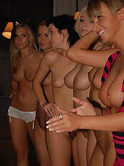 Smoking hot blonde chicks get shagged hard at the groupsex party
