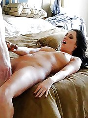 Steaming hot MILF gets caught on a voyeur video fucking a hard dick