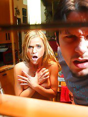 Mckenzie Miles gets caught on a voyeur video fucking with a studly guy