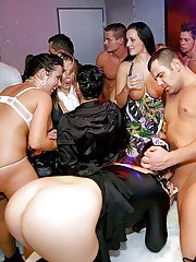 Filthy party chicks have some pussy licking and cock fucking fun