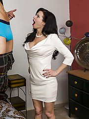 Hot MILF Veronica Avluv enjoys hard fucking and gets her face glazed with cum