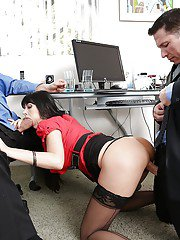 Eva Karera has a fervent threesome with her well-hung office mates