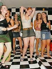 Liberated chicks getting wet and naughty at the crazy european party
