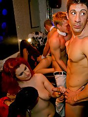 Sassy european amateurs getting drunk and going crazy at the wild party