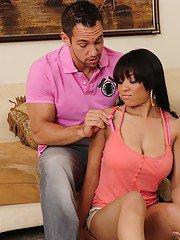 Juggy latina Jade Aspen seduces her friends boyfriend and gets harshly banged
