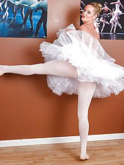 Hot MILF Zoey Holiday gets rid of her ballet outfit and caresses herself