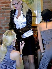 Kinky european fetish ladies have a lesbian orgy mixed with pissing action