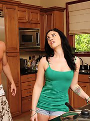 Andy San Dimas gets fucked hardcore and facialized by her friends hubby