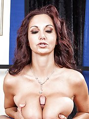 Horny cougar Ava Addams seduces a naughty guy to play with his dick