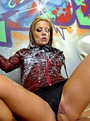 Leony Aprill enjoys non nude sex mixed with messy and slimy gloryhole action
