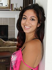 Sweet latina amateur slowly uncovering her tempting curves