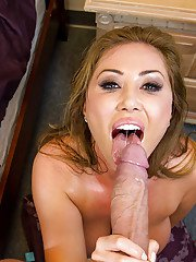 Kianna Dior gives a titjob and fucks a huge boner for cum in her mouth