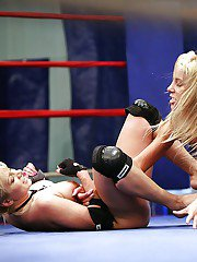 Lustful sporty gals have a tough catfight ending up with a fervent lesbian sex