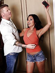 Asian vixen Kaylani Lei gets fucked and jizzed over her shaved cooter