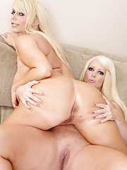 Blonde rubenesque MILFs strip down and make some soft lesbian action