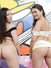 Bottomless bombshells showcasing their amazing booties and cherry holes