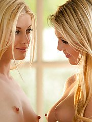 Sensuous blonde hotties make some immensely steamy lesbian action