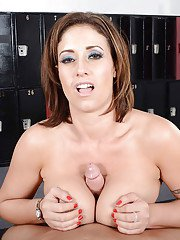Curvaceous sporty latina gets shagged and milks a boner with her huge tatas