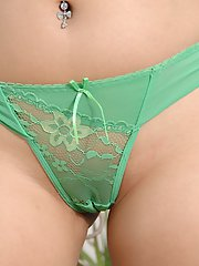 Smiley asian amateur getting nude and demonstrating her honey pot