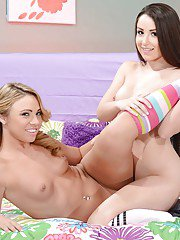 Frisky teen kitties have some lesbian humping and scissoring fun