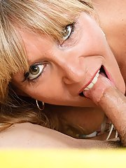 Lecherous blonde mom gets banged tough and jizzed over her ass