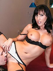 Stunning raven-haired MILF has some hardcore fun with her hung office mate