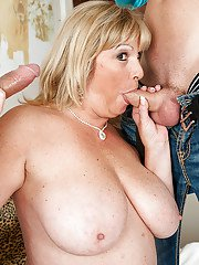 Milf finally gets the chance to know what double penetration is about
