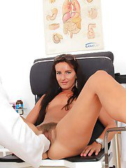 Impeccable whore with hairy twat Promesita loves visiting nasty gyno