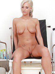 Hot European babe Nathaly Heaven loves when doctor checks her twat