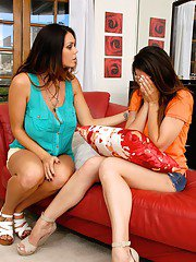 Sweet lesbian milfs Alison and Tiffany know how to do a good show