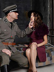Gallant European brunette Foxy Di does a really wild blowjob