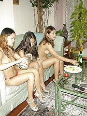 Slender Thai lesbians are playing in exciting domination games