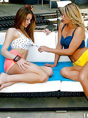 Stunning young lesbians pleasing each other with their wet tongues