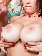 Astonishing cougar Charlee Chase is used by giant poker with big balls