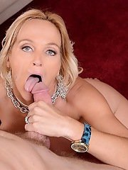 Splendid cougar with large boobs Dani Dare gets cool pussy lick