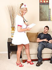 Mature nurse Zoey Andrews works attentively on that sweet penis