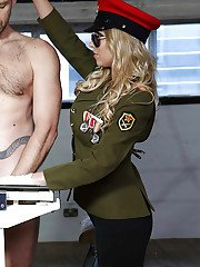 Good-looking blonde Lexi Lowe is a horny blowjobbing officer