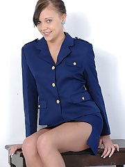 Lovesome amateur teen Ivy Winters wears very sexy uniform today