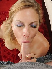 Skillful mature blonde with big tits Madison Paige gets facialized