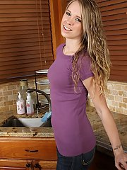 Smiling amateur teen Anna Stevens has sweet treasures for us