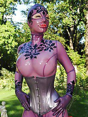 Latex costume looks hot on big titted BDSM addicted babe Latex Lucy